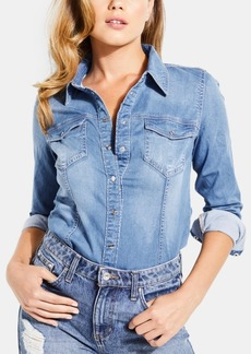 Guess Long-Sleeve Denim Shirt