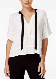 Guess Lorna Printed Tie-Detail Top
