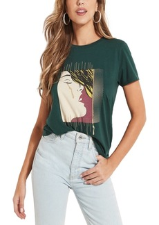 Guess Lovesick Girl Embroidered Graphic T-Shirt