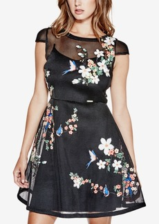 Guess Lyana Embroidered Mesh Dress