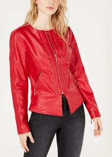 Guess Mae Flirty Faux-Leather Jacket