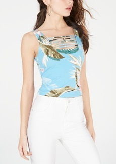 Guess Maeko Strappy Printed Crop Top