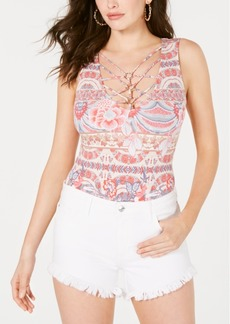 Guess Mairi Sleeveless Lattice Bodysuit