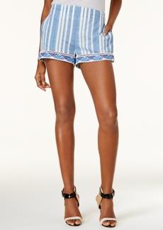 Guess Malibu Striped Embroidered Shorts