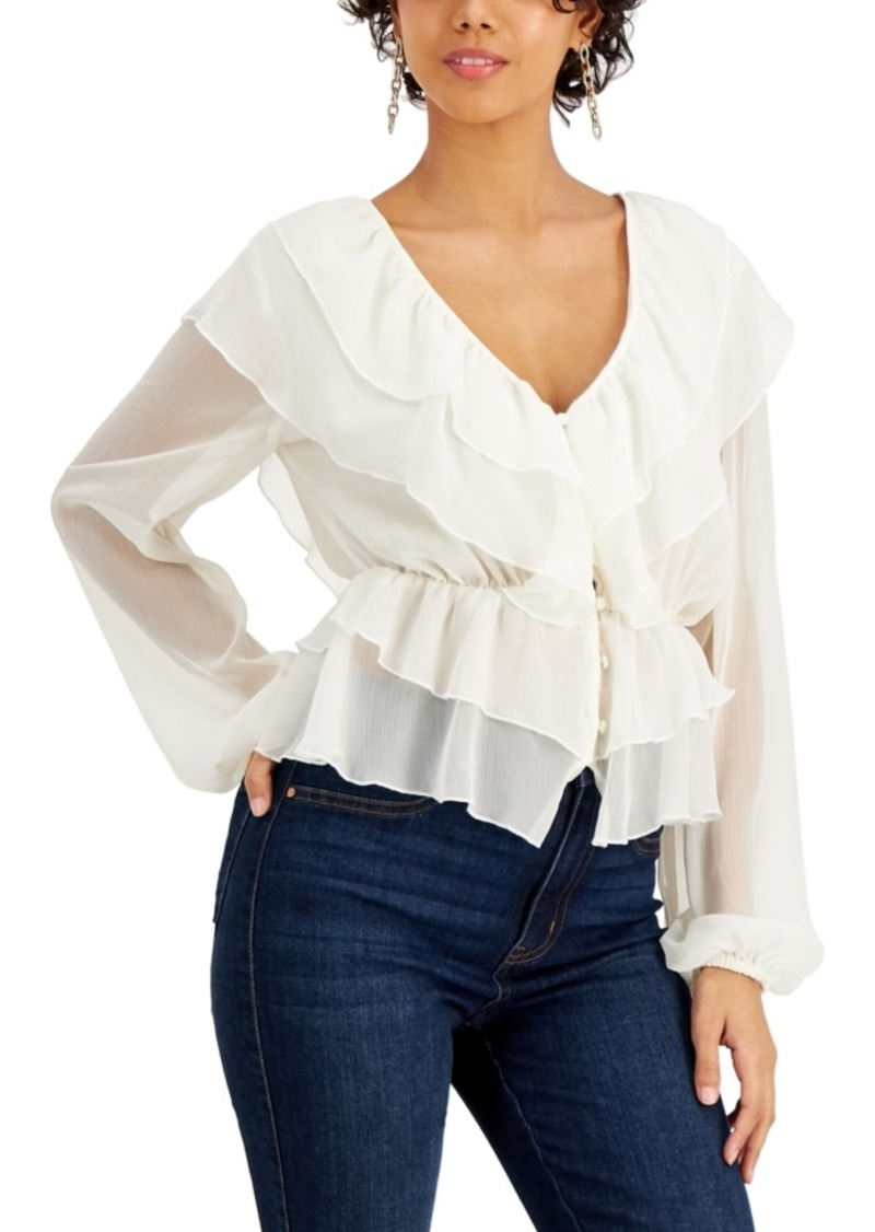 Guess Marene Ruffled Blouse