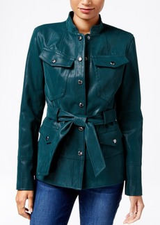 Guess Margrete Faux-Leather Utility Jacket