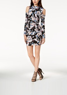 Guess Mariah Twisted Printed Cold-Shoulder Dress