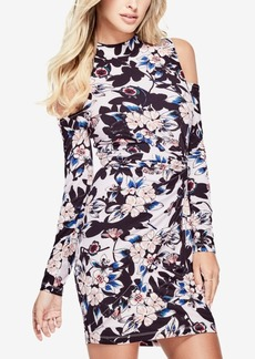 Guess Mariah Twisted Printed Cold-Shoulder Dress
