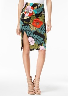 Guess Marvel Floral-Print Pencil Skirt