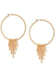 "Guess Medium Gold-Tone Graduated Spike Hoop Earrings 2"""