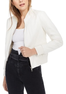 Guess Melissa Faux-Leather Bomber Jacket
