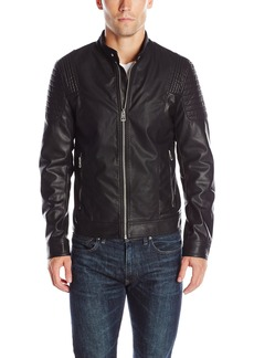 GUESS Men's Abram Moto Jacket  XXL