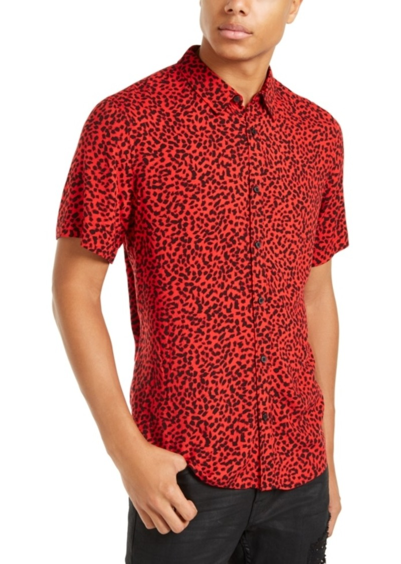 Guess Men's Abstract Dot Print Shirt
