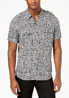 Guess Men's Abstract Grid Shirt