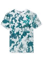Guess Men's Abstract-Print Cotton T-Shirt