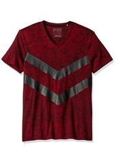 GUESS Men's Acid Chevron V-Neck T-Shirt  XL