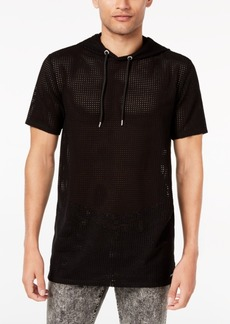 Guess Men's Alder Mesh Hooded T-Shirt
