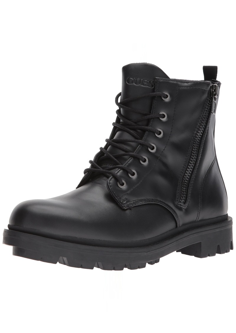 GUESS Men's Archibald Combat Boot  8.5 Medium US
