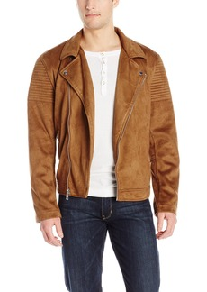 GUESS Men's Asymmetrical Biker Jacket