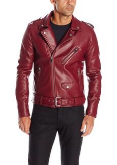 GUESS Men's Asymmetrical Faux Leather Jacket