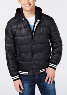 Guess Men's Baseball Snap-Front Puffer Jacket