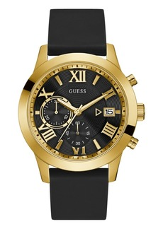 Guess Men's Black Silicone Watch 50MM, Created for Macy's
