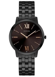 Guess Men's Broker Black Stainless Steel Bracelet Watch 39mm