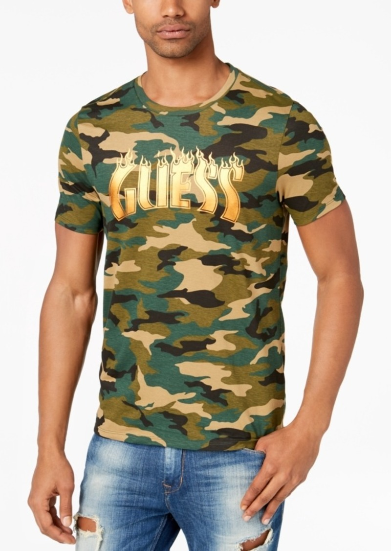 f82548ddc23 On Sale today! GUESS Guess Men s Camo Graphic-Print T-Shirt