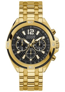 Guess Men's Chronograph Surge Gold-Tone Stainless Steel Bracelet Watch 46.5mm
