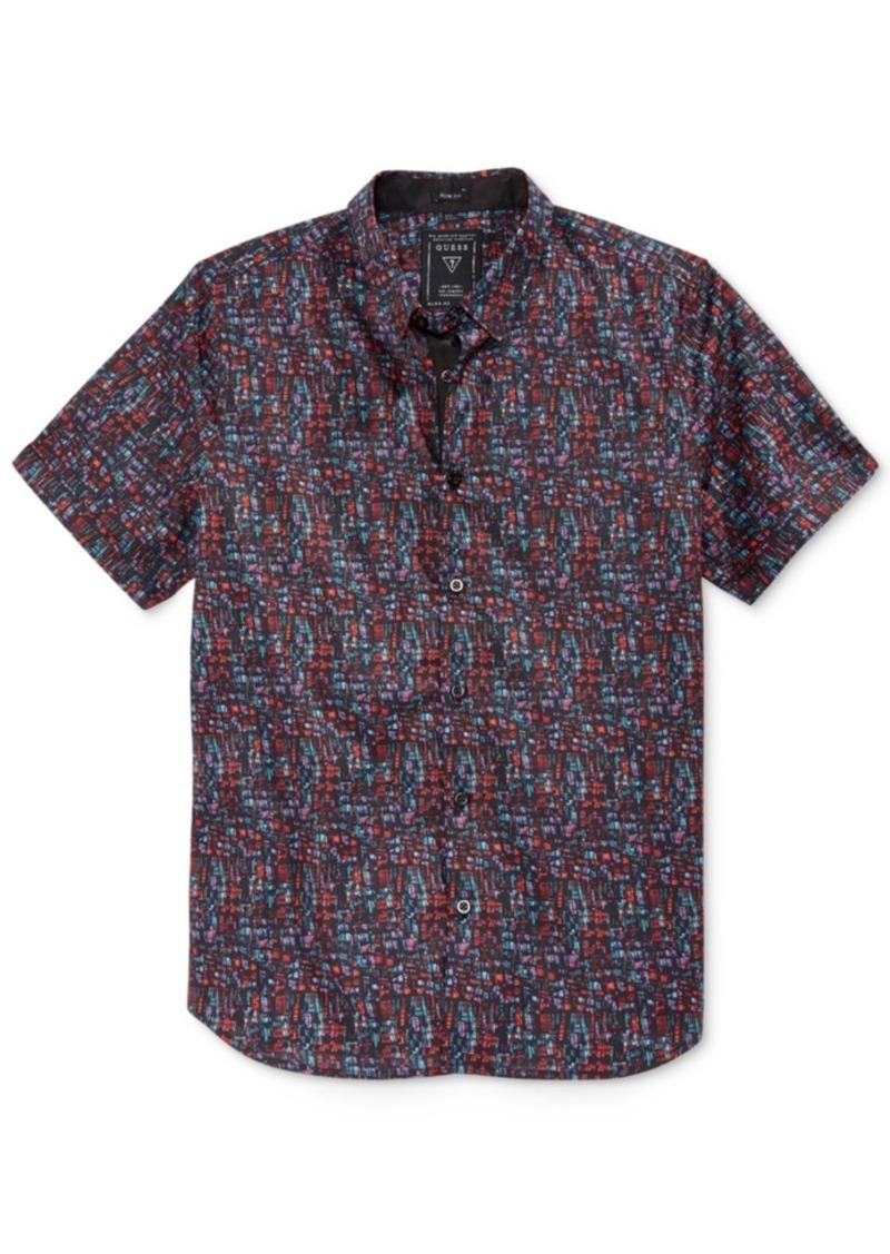 Guess Men's City Light Graphic-Print Short-Sleeve Shirt
