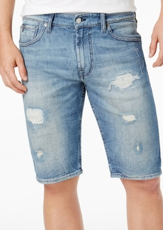 Guess Men's Classic-Fit Stretch Destroyed Denim Shorts