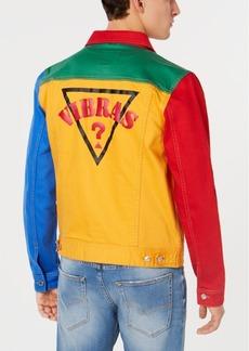 J Balvin X Guess Men's Colorblocked Denim Jacket