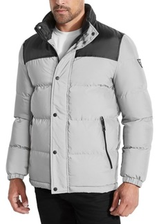 Guess Men's Colorblocked Reflective Puffer Jacket