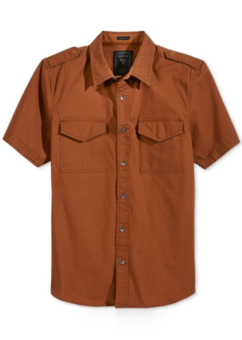 Guess Men's Conway Cotton Poplin Shirt