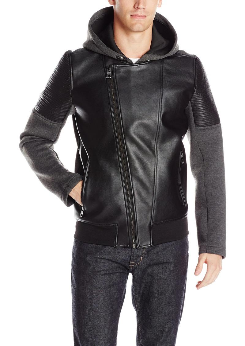 GUESS Men's Daniel Mix Media Jacket  XL
