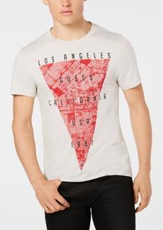 Guess Men's Dark Map Graphic T-Shirt