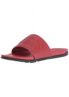 GUESS Men's Delfino Sandal red 12 Medium US