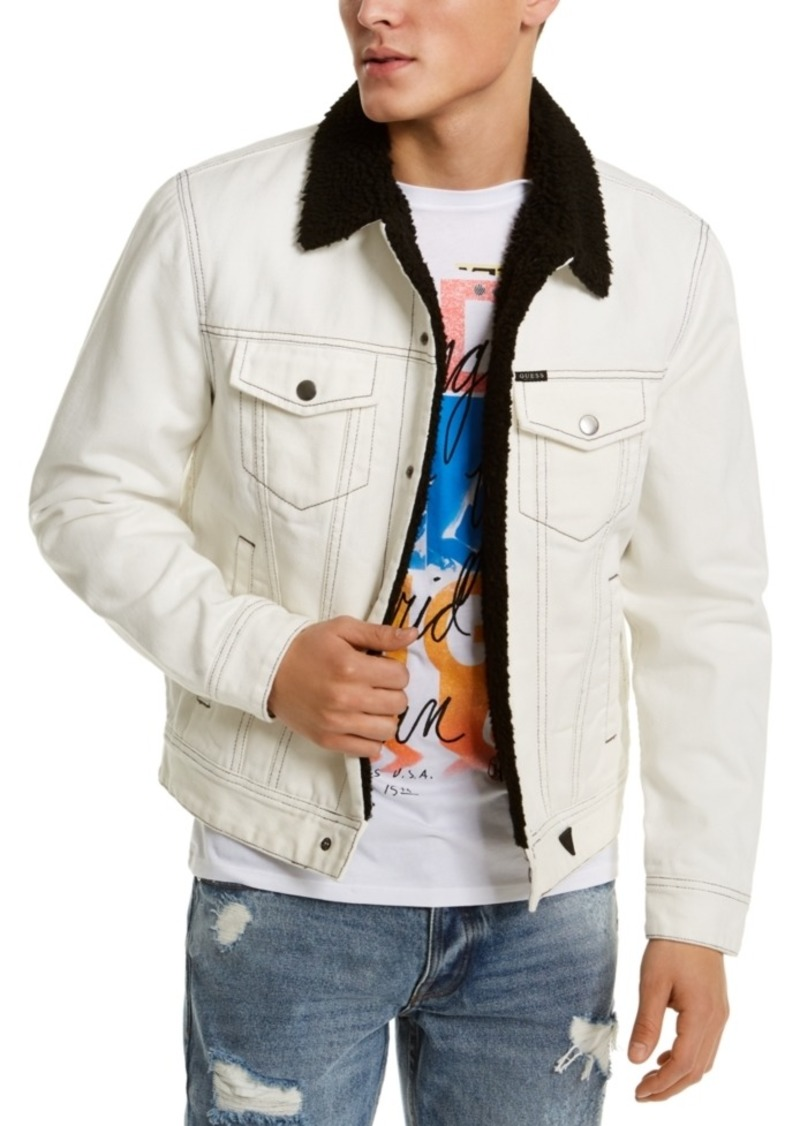 Guess Men's Denim Fleece-Lined Jacket
