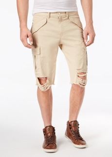 Guess Men's Destroyed Cargo Shorts