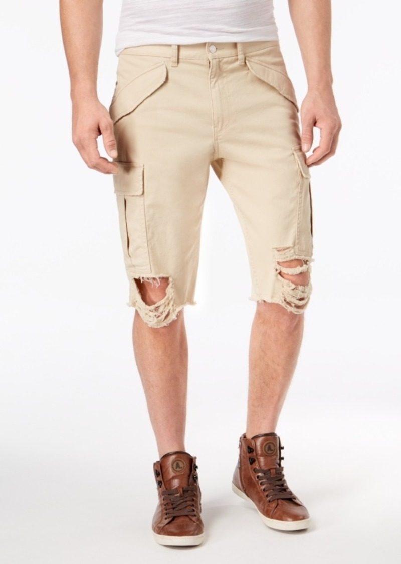 cheap for discount great discount sale a few days away Men's Destroyed Cargo Shorts