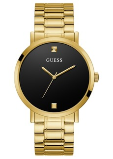 Guess Men's Diamond-Accent Gold-Tone Stainless Steel Bracelet Watch 44mm