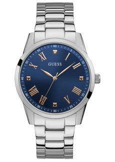 Guess Men's Diamond-Accent Stainless Steel Bracelet Watch 42mm