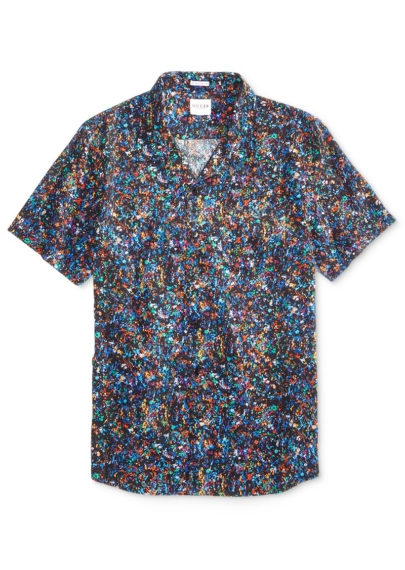 All Mens Sale Guess >> Men S Digital Confetti Shirt