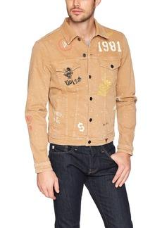 GUESS Men's Dillon Denim Jacket with Graffiti DEEP SIX WASH M