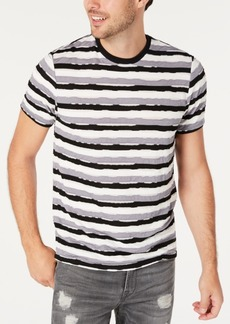 Guess Men's Distressed Striped T-Shirt
