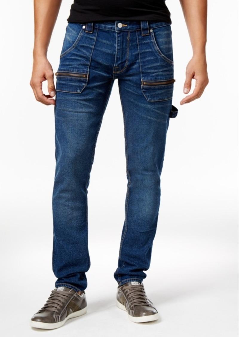 Guess Men's Drop-Hem Slim- Fit Tapered Carpenter Jeans