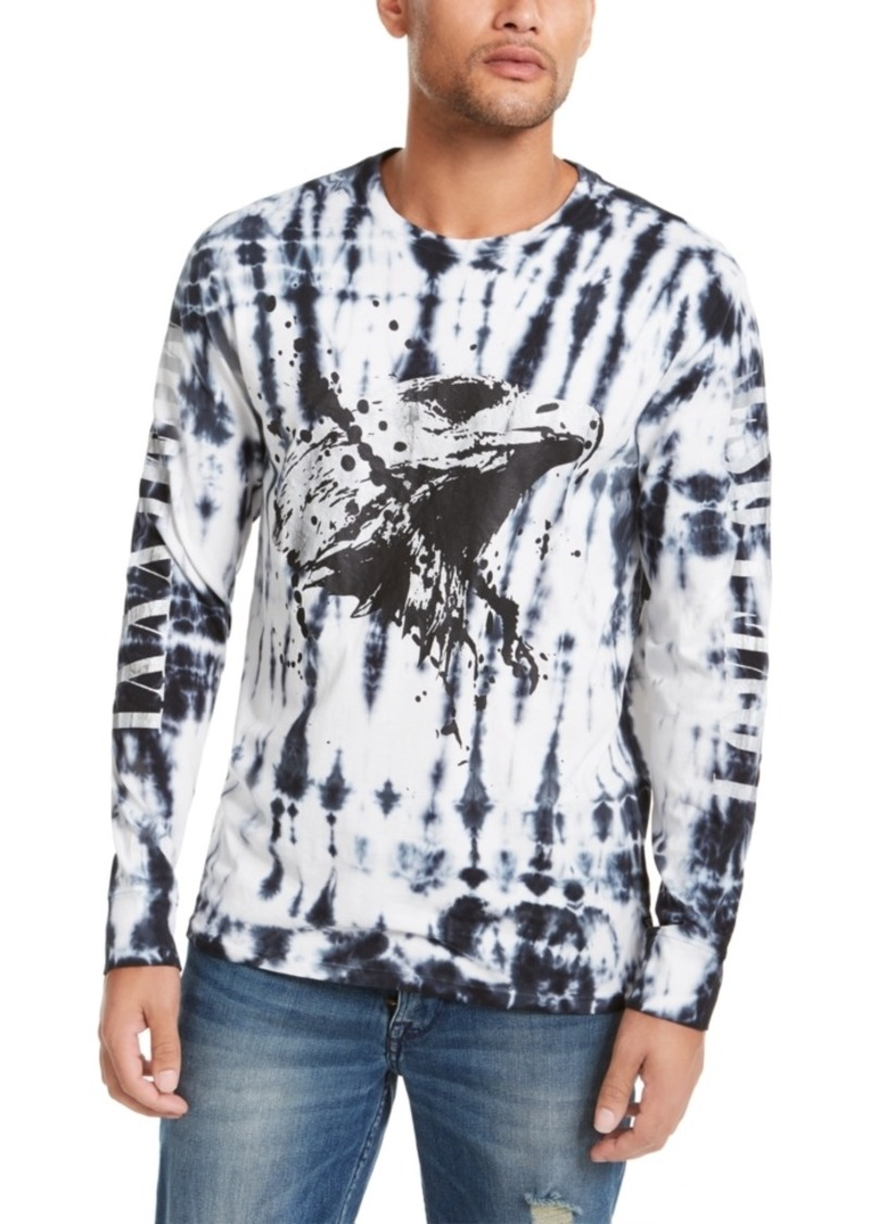 Guess Men's Eagle Splatter Print Long Sleeve T-Shirt