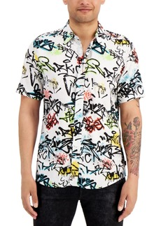 Guess Men's Eco Graffiti-Print Shirt