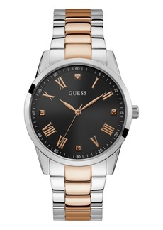 Guess Men's Elect Diamond-Accent Two-Tone Stainless Steel Bracelet Watch 42mm