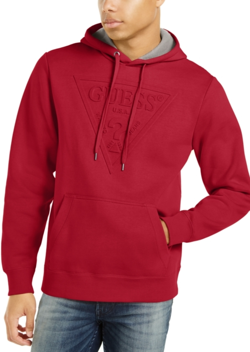 Guess Men's Embossed Logo Hoodie